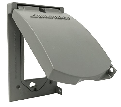Sealproof 2 Gang Outdoor Weatherproof Metal Flat Electrical Outlet