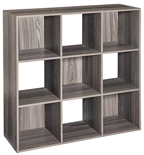 ClosetMaid 4167 Cubeicals Organizer, 9 Cube, Natural Gray