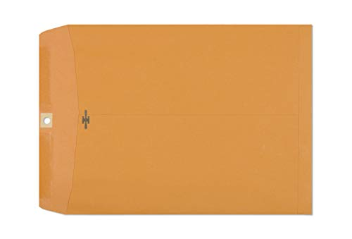 Clasp Envelopes – 10x13 Inch Brown Kraft Catalog Envelopes with Clasp Closure & Gummed Seal – 28lb Heavyweight Paper Envelopes for Home, Office, Business, ...